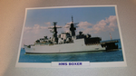 HMS Boxer 1981 British warship framed picture